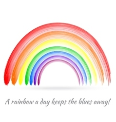 Bright brush painted rainbow vector