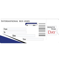 Bus ticket vector image vector image