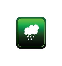 button of rain green vector image vector image