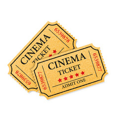 cinema ticket stock vector image vector image