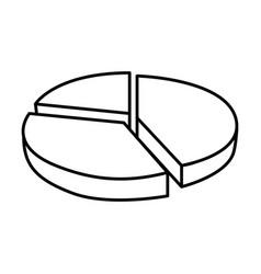 Circular statistic graph icon vector