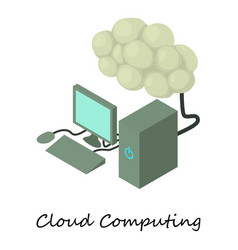 cloud computing icon isometric 3d style vector image