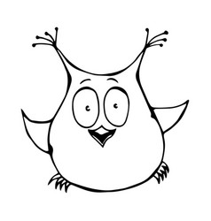 Cute funny happy surprised amused puzzled owl bird vector