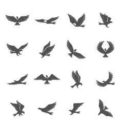 Eagle icons set vector