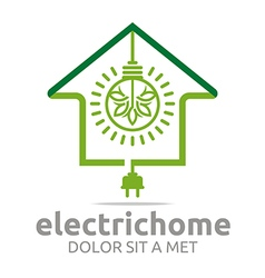 Electric home light energy bright logo vector