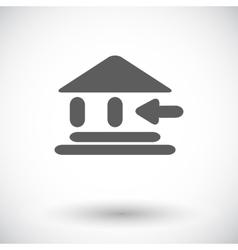Entry single icon vector