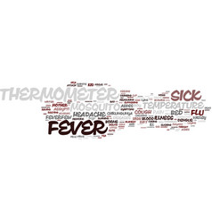 Fever word cloud concept vector