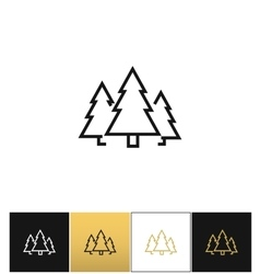 Forest symbol or evergreen trees icon vector