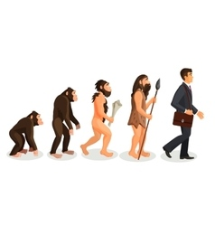 From ape to man standing process isolated human vector