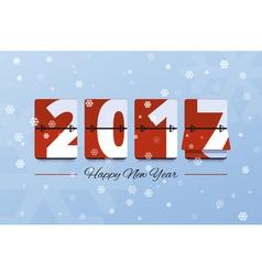 Happy New Year 2017 scoreboard vector image vector image