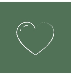 Heart icon drawn in chalk vector