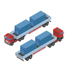 Isometric truck parking in the street available vector