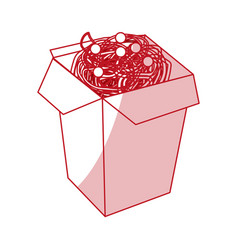 noodles box design vector image