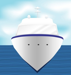 Ocean liner cruise ship boat at sea artwork 1 vector