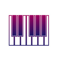 piano or synthesizer icon music sign musical vector image vector image
