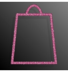 Pink Sequins Shopping Bag Glitter Sale offer vector image