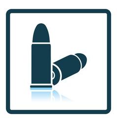 Pistol bullets icon vector