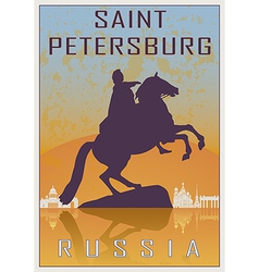 Saint petersburg vintage poster vector