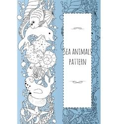 sea animals pattern vector image