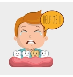 childhood sick pain tooth vector image