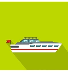 Big yacht icon flat style vector