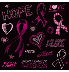 Breast cancer awareness sketch vector