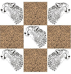 Cheetah patterns for textiles and wallpaper vector image