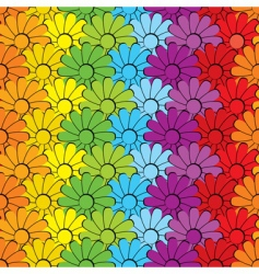 Flowersrainbows vector
