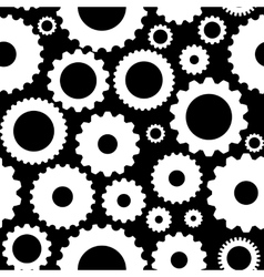 Gear icon seamless pattern vector
