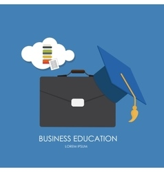 Business Education Concept Trends and innovation vector image