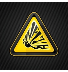 Explosive warning sign vector