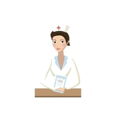 Nurse icon cartoon style vector