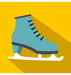 Ice skate icon flat style vector