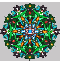 Background circular ornaments vector