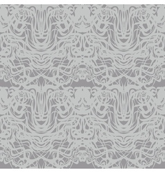 Abstract gray lace silver moire pattern vector