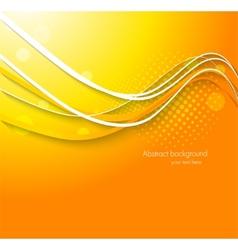 Abstract wavy orange background vector