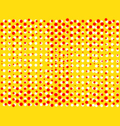 Background with dots of red and yellow colors pop vector