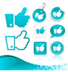 Blue Like Hand Design Kit vector image