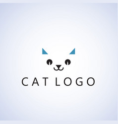 Cat logo ideas design vector