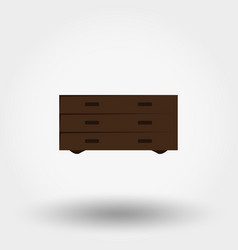 chest of drawers vector image vector image
