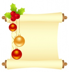 Christmas letter vector image vector image