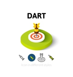 Dart icon in different style vector