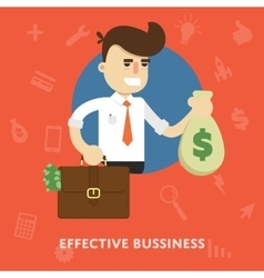 Effective business management concept vector