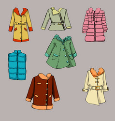 fashion set graphic style vector image