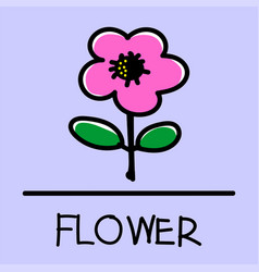 flower hand-drawn style vector image vector image