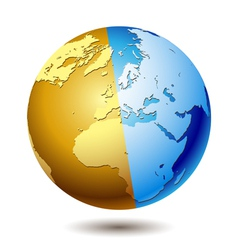 globe blue vector image vector image