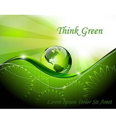 Green abstract fantasy background vector