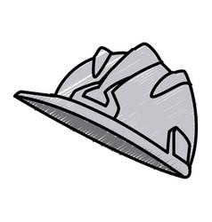 Hardhat worker helmet vector