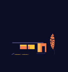 House at night abstract vector