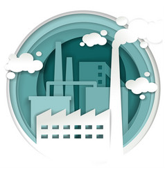 industrial plant factory concept vector image